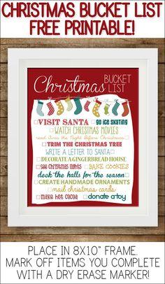 Christmas Bucket List Printable!