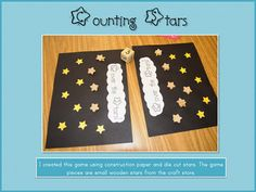 Stars counting mat printable. Use with Abraham