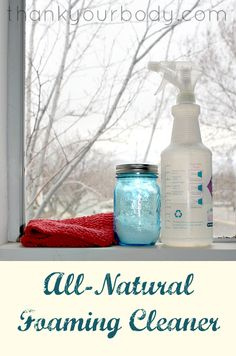 Try this non-toxic, all natural foaming cleaner! Easy to make, and cleans like a pro.