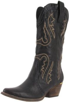 Very Volatile Women's Raspy Boot.  $84.95 - $89.99            Treat yourself to something lovely, like Very Volatile's delightful Raspy. This kicked back cowboy boot features a leather-like Western-style upper with unmistakably stylish stitching and embroidery. An angled walking heel boosts your height without wearing you out, while ...