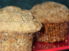 Made these today and they turned out great! dessert first: Banana Crumb Muffins