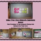 Free!    Subitizing!  Make Your Own Magnetic Ten Frame and Printables  This is a template to make your own magnetic ten frame and two sided magneti...