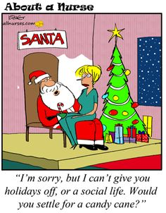 Cartoon: All I want for christmas! - About A Nurse - Nursing Cartoon Series