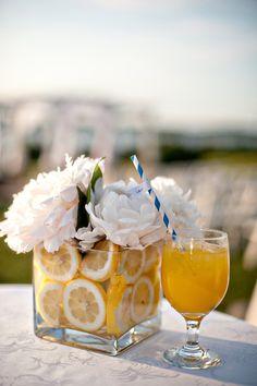 yellow weddings, gerber daisies, white flowers, bailey photographi, lemons, centerpiec, lemon lime, bridal shower, floral designs