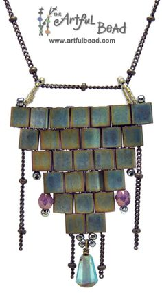Citadel Tila Necklace - Amy Jewell www.artfulbead.com $35.00 #jewelrymaking #class