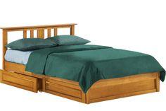 Thyme Platform Storage Bed Frame Oak