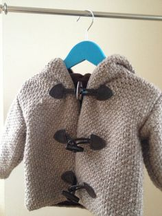 Childrens duffel coat pattern  crochet and sewing by joyofmotion, $9.00