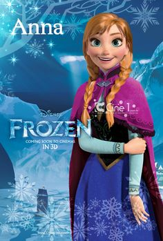 Well here she is. The newest Disney Princess, Princess Anna. I need to read more about her movie, Frozen.