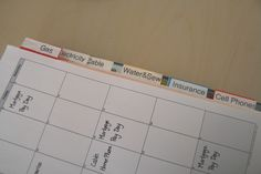 i LOVE this...keep track of bills, etc. without filing!!