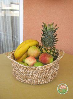 Crocheted fruit basket free pattern