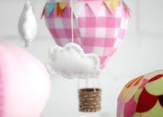 Adorable hot air balloon mobile