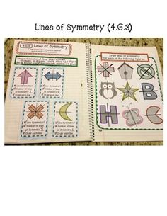 4th Grade Interactive Math Notebook - Geometry