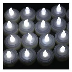 AGPtek® 60 PCS Battery Operated Flameless LED Tealights Candles - Cool White