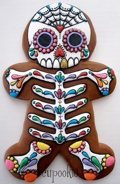 Day of the dead gingerbread man.