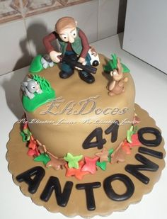 hunt cake, fish cake, men cake, cake fish, hunter cake