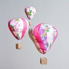Hot Air Balloon Trio Mobile from Made by Mosey
