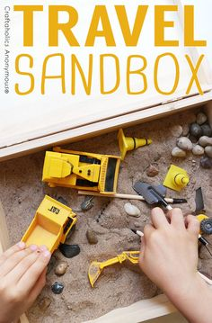 Craftaholics Anonymous® | DIY Travel Sandbox Gift Idea