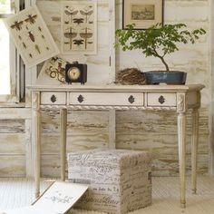 Hooker Furniture Melange Sofia Writing Desk in Antique White