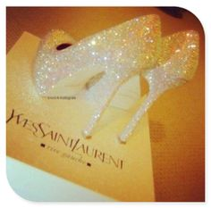 Sparkle and Shine with these killer YSL shoes!!! ....The bling you walk into your future life on/in....