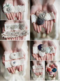 wedding accessories, book wedding, wedding garters, baby girl headbands, vintage weddings, book making, look books, book collection, vintage diy