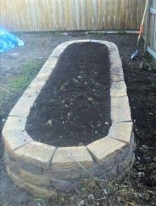 Garden made with pavers.