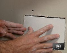 Finding a big hole in your drywall isn't much fun, but fixing it isn't a big problem. Whether you have a hole to fix or you are just prepping to paint, a few supplies and tools are all you need for the job. Learn how to fix drywall here!