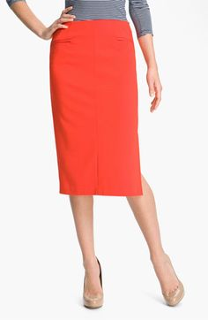 Halogen Long Ponte Pencil Skirt