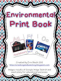 Environmental Print Book- FREE Download! environmental print, classroom chao, books, idea, abc, print book, alphabet, kindergarten, environment print