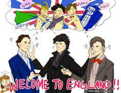 amaziiiiiing tom hiddleston, benedict cumberbatch, and matt smith cheekbone polishing party
