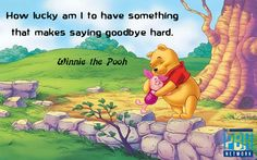 How lucky am i to have something that makes saying goodbye so hard interest quot