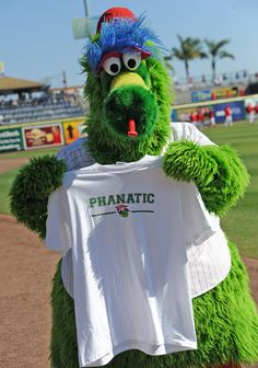On 11/30: Get a free Phillie Phanatic T-Shirt gift with purchase (while supplies last) philadelphia philli, tshirt gift, fans, phanat tshirt, philli phanat, free philli, philli basebal, philli girl