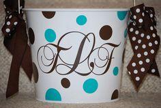 Monogram Personalized 5 Quart Bucket