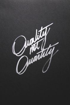Quality Not Quantity. ZsaZsa Bellagio: guys
