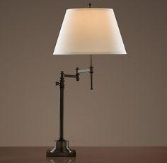 Restoration Hardware Library Swing-Arm Table Lamp - Bronze $205.00