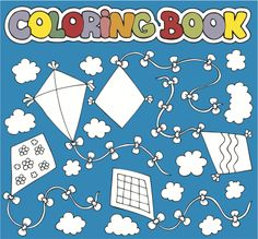 FREE Kite Coloring Page for #children!  #educational #resources