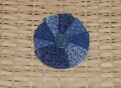 Shades Of Blue Fabric Flower Brooch by mlmissal on Etsy, #SYLink