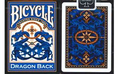 Bicycle Blue Dragon Back Playing Cards. #poker #playingcards #games