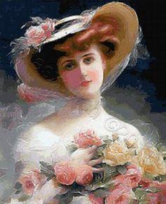 Victorian lady cross stitch patterns