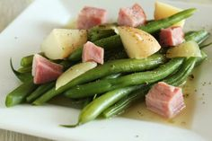New Potatoes, Green Beans and Ham. Photo by Delicious as it Looks