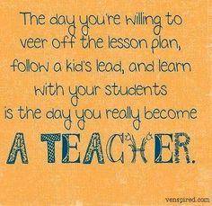 Teacher quote via www.Venspired.com