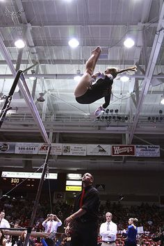 gymnastics, gymnast in the air uneven bars m.14.3 #KyFun