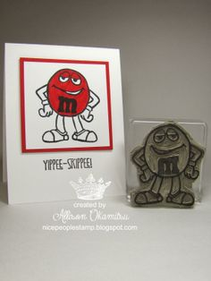 nice people STAMP!: UNDEFINED - Hand Carved Candy Character Stamp - Stampin' Up! by Allison Okamitsu