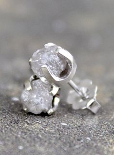 Rough Diamond Earrings <3