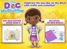 Doc McStuffins crafts and games