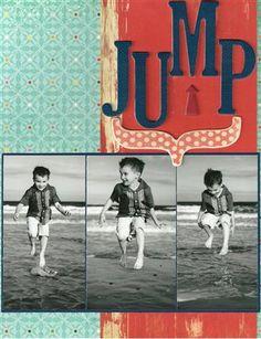 """Jump"" by Shannon Burns, as seen in the Club CK Idea Galleries. #scrapbook #scrapbooking #creatingkeepsakes"