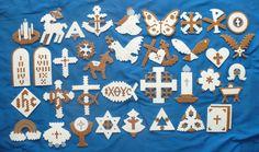 Chrismon Christian Christmas Perler Bead Ornament Set