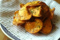 Tallow Fried Sweet Potato Chips with Rosemary & Black Pepper