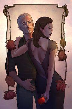 """""""Spike & Dru IV"""" Cover by Jenny Frison."""