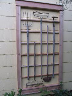 Repurposed Garden Tool Trellis