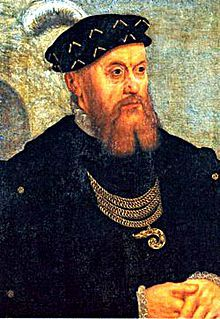 Portrait of Christian III of Denmark (1503 - 1559). King of Denmark and Norway from 1534 until his death in 1559. He was married to Dorothea of Saxe-Lauenburg and had five children.